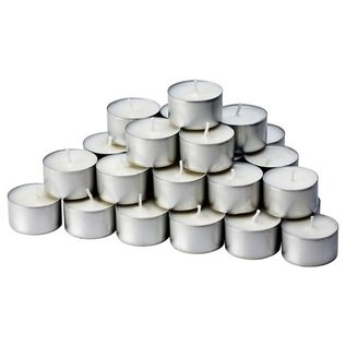 MISC 100 Tea Light Unscented White Candles