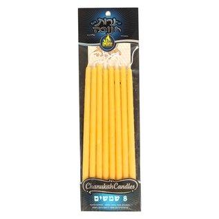 Ner Mitzvah Large Beeswax Shamoshim - 8 Pack
