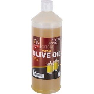 Ner Mitzvah Olive Oil Bottle - 30 Oz