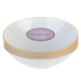 Bluesky Disposable White Gold Rim 16oz Bowls (10 Count)