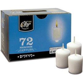Ner Mitzvah 4 Hour Premium Quality Neironim Shabbat Candles - 72 Pack