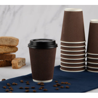 Bluesky 12oz Ripple Cups Brown Combo (12 Count)