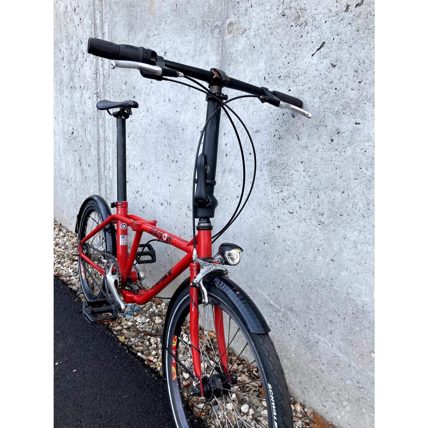 Portland Gear Hub Dahon Getaway Folding Bike - 20366 - Red - 20in Wheel