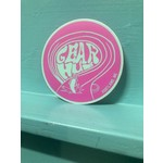 Portland Gear Hub PGH Sticker, Purple/Teal Swirl, 2.5'' Circle