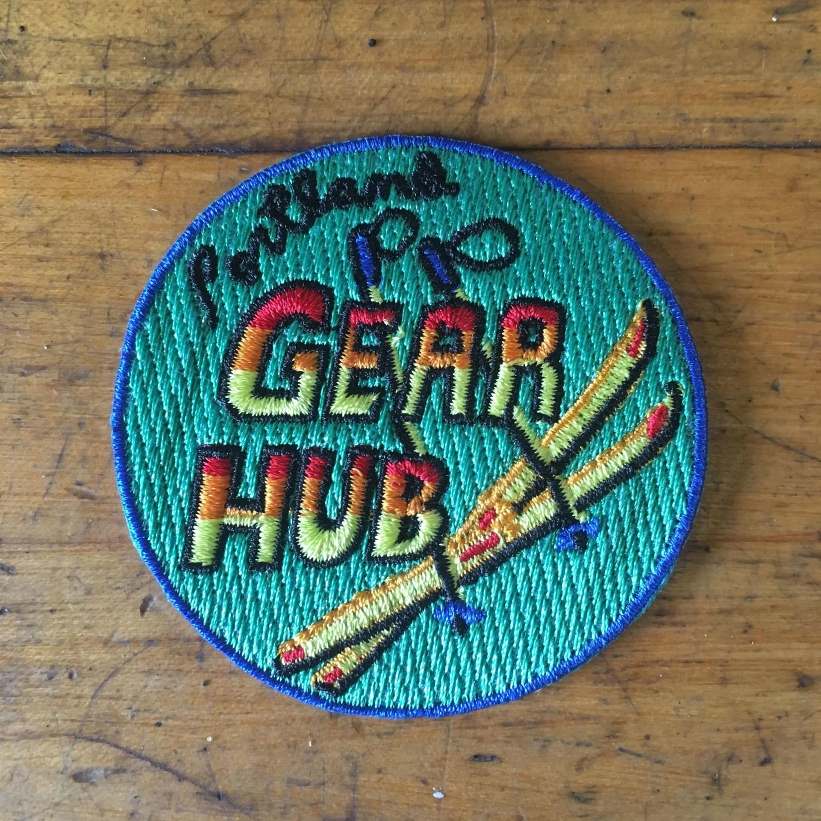 Portland Gear Hub PGH Nordic Ski Patch, Iron-on, 2'' Circle