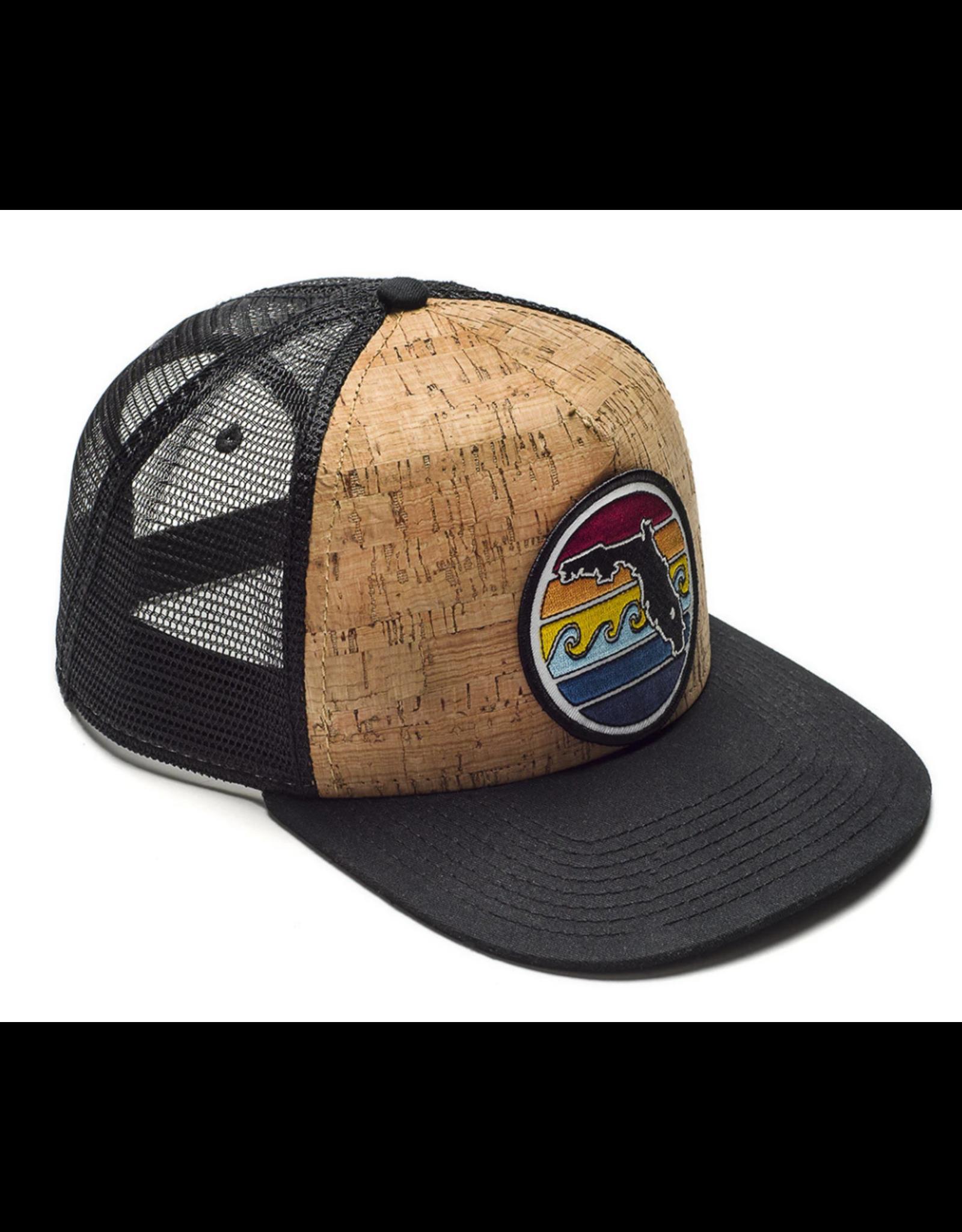 Sunshine State Goods Hat - Florida Sunset Trucker - Cork [SS]