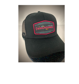 Fairgrounds St. Pete Hat - Logo 6 Panel Black Mesh [FG]