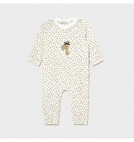Mayoral Long Onesie with Adjustable Footie