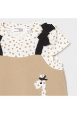 Mayoral Overall Onesie with Knit Hat