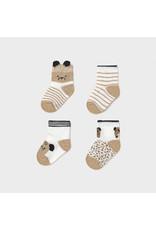 Mayoral 4 Piece Set Socks - Caramel