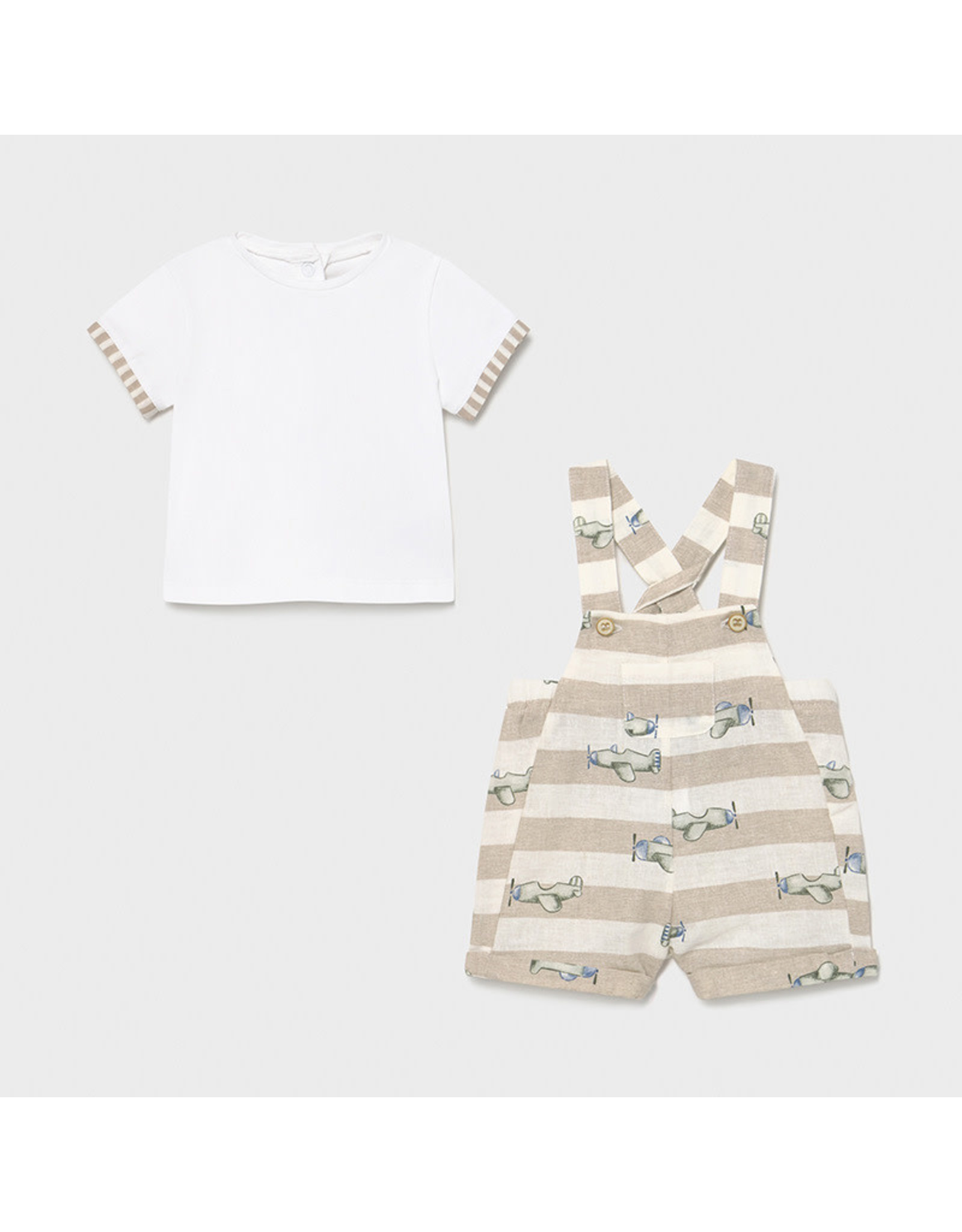 Mayoral Overall and t-shirt set