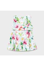 Mayoral Pistachio Flower Dress