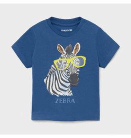 "Mayoral Short Sleeve T-shirt ""play"" ""zebra"""