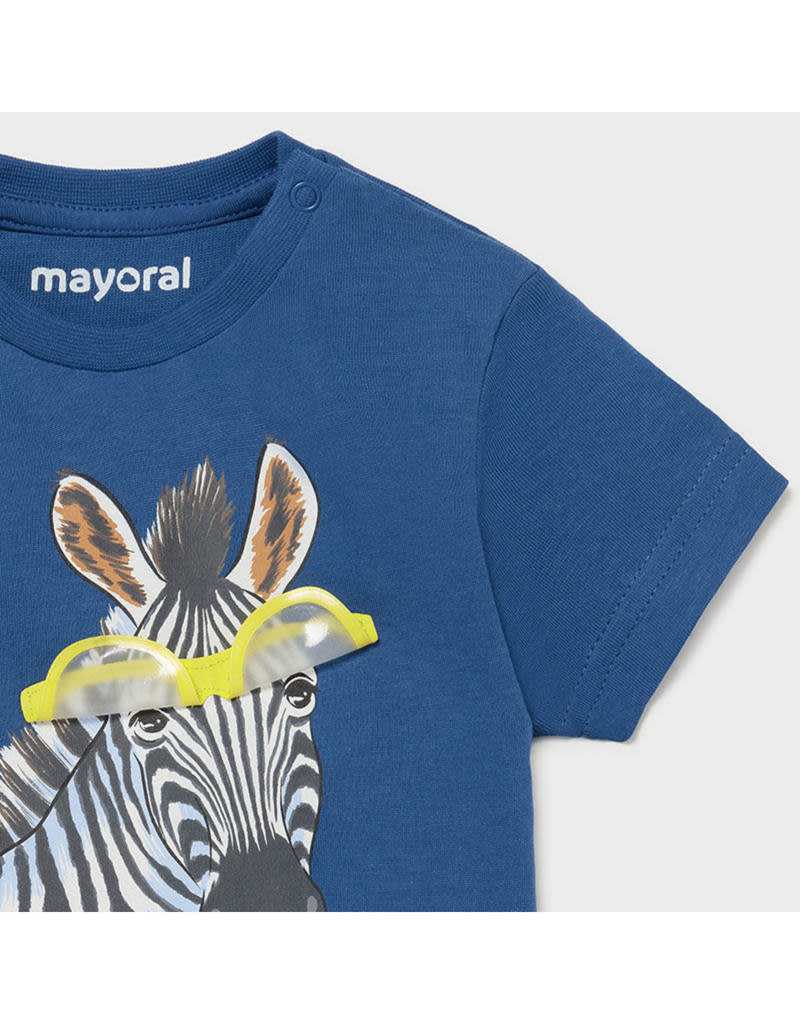 "Mayoral Short Sleeve T-shirt ""play"" ""zebra"""