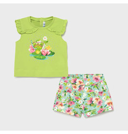 Mayoral Short Set with Frogs
