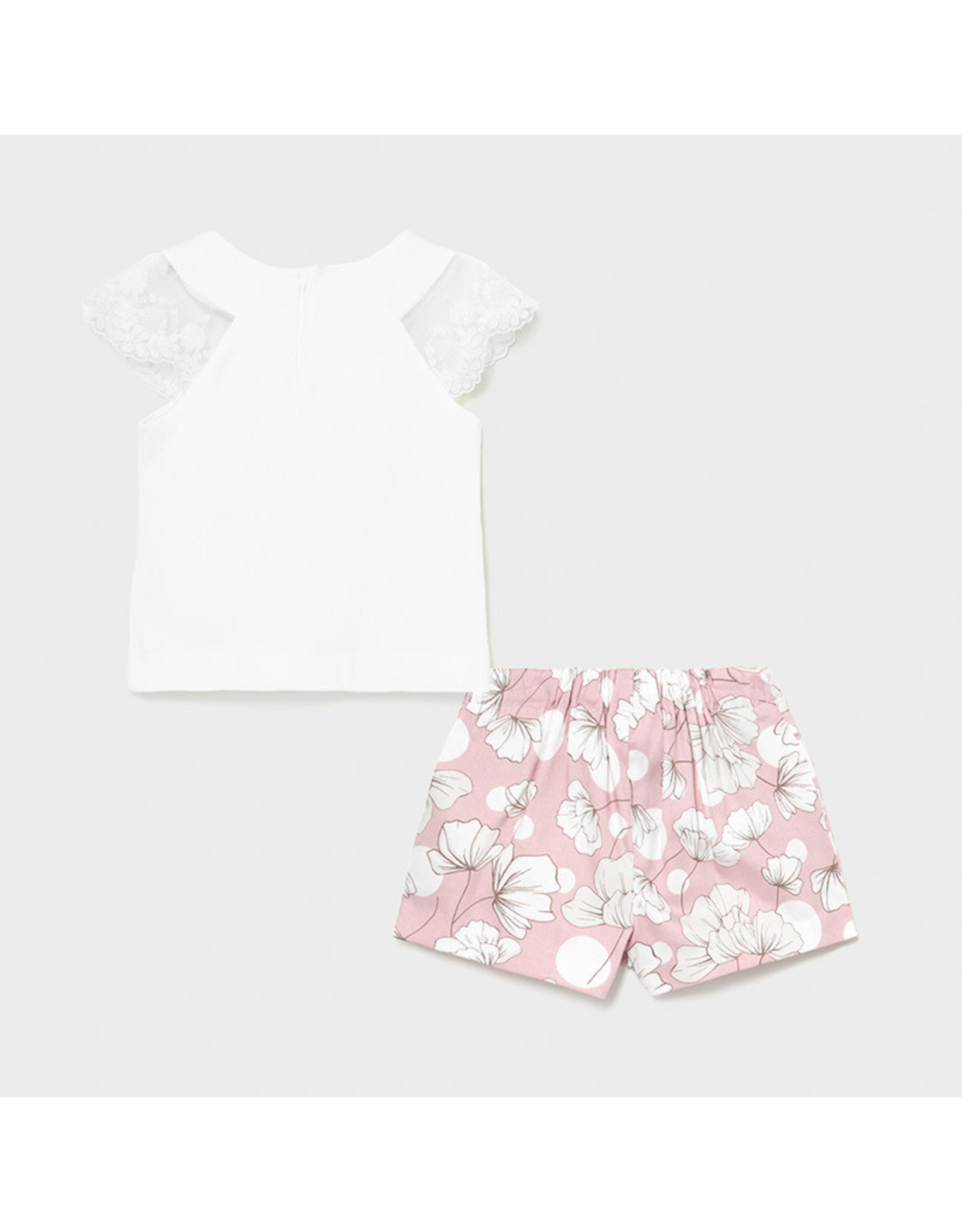 Mayoral Shorts Set with Floral Patterns