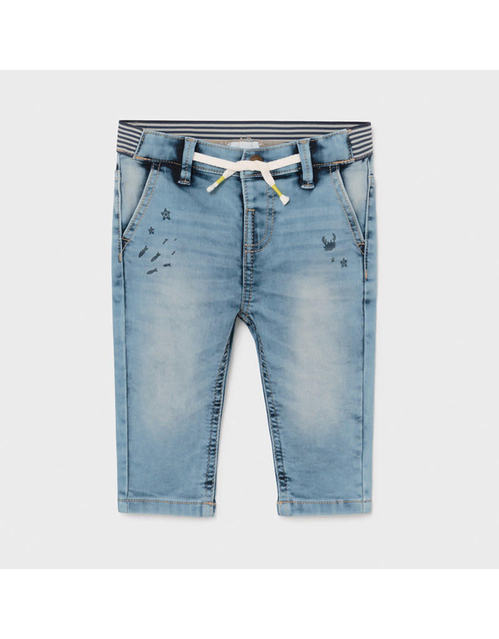 Mayoral Sort Printed Denim Pants