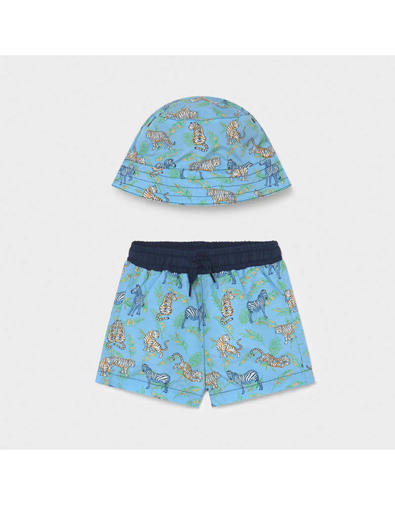 Mayoral Bathing Suit and Hat Set
