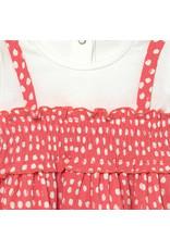 Mayoral Mixed Dress with Polka Dots