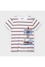 Mayoral Stripes Shirt Sleeve T-shirt