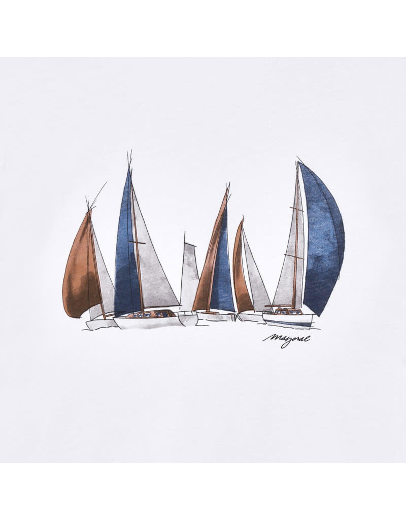 Mayoral Long Sleeve Sail Boats T-Shirt