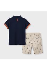 Mayoral Printed shorts set - Sailboats