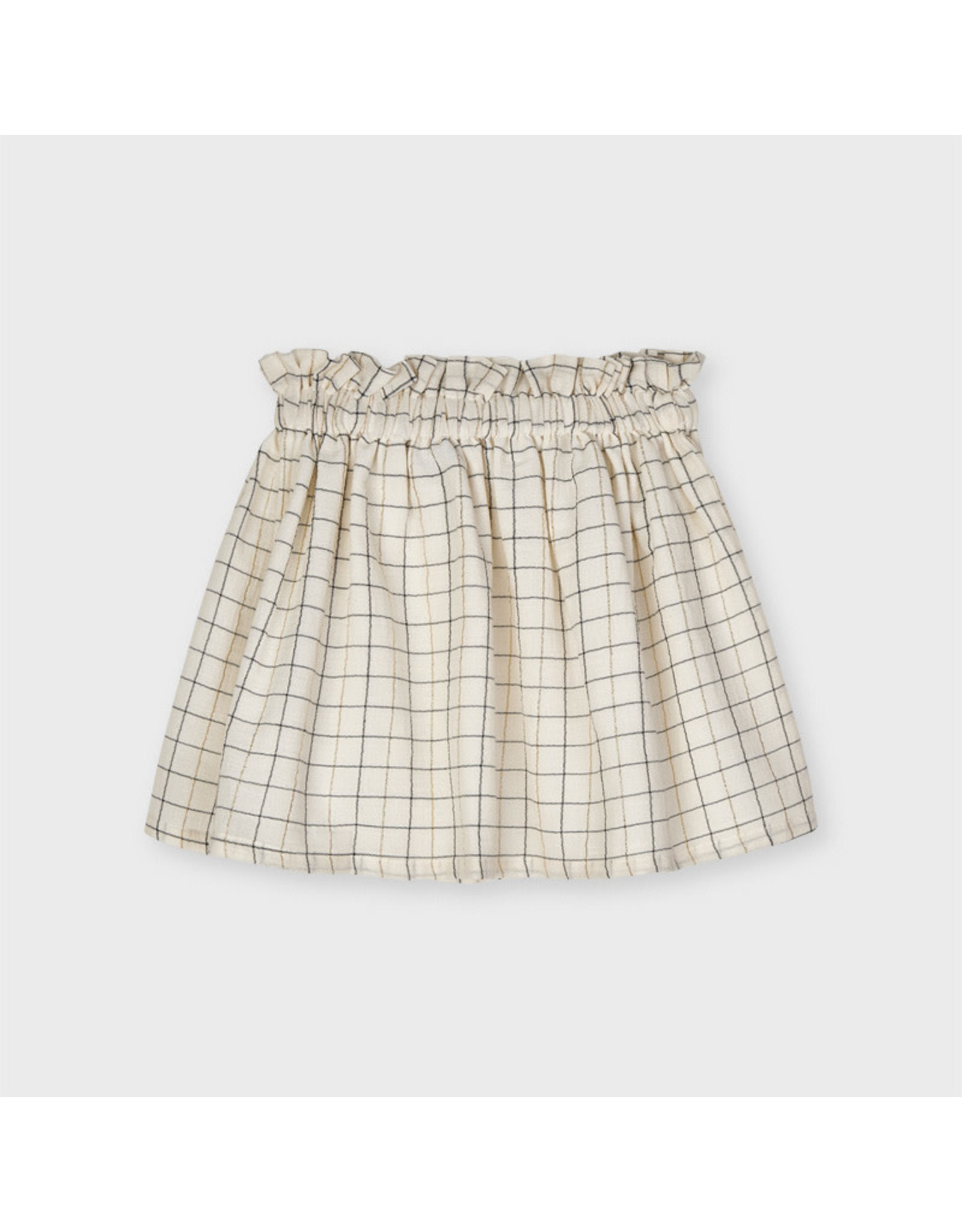 Mayoral Plaid Lurex Skirt