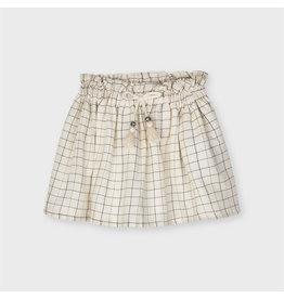 Mayoral Plaid Lurex Skirt