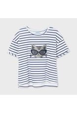 Mayoral Short Sleeve Printed Cat T-Shirt