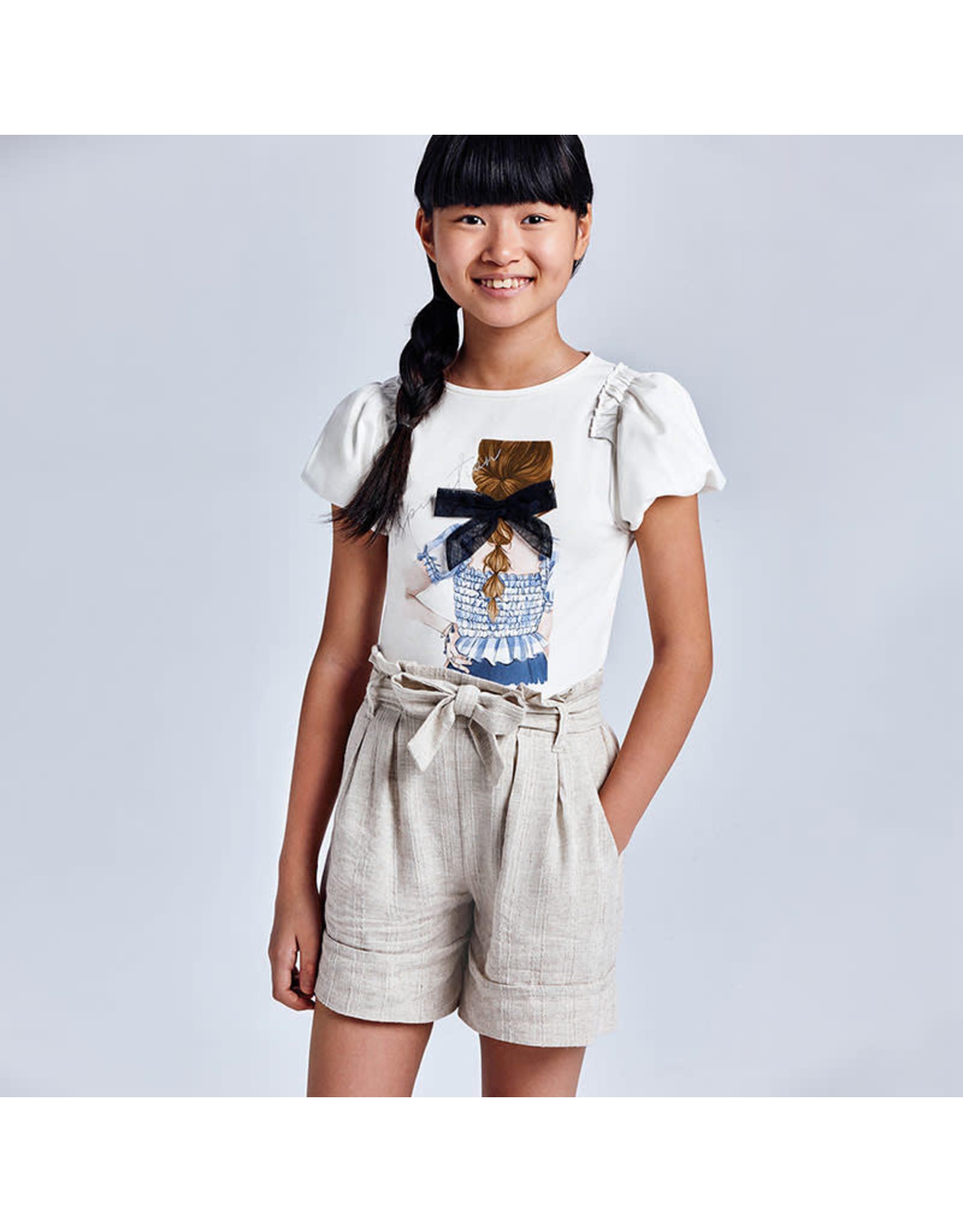Mayoral Natural Linen Shorts
