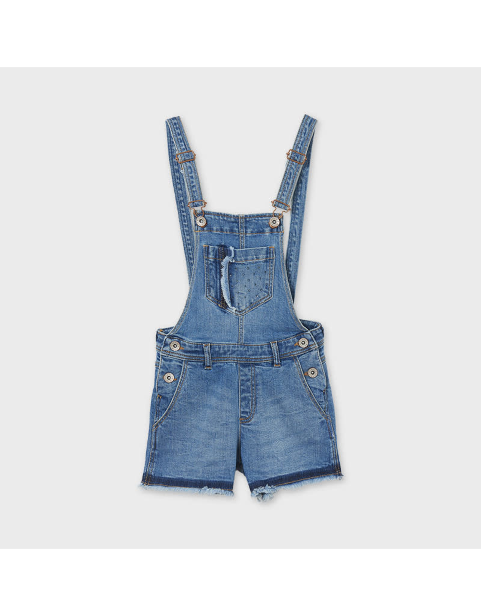 Mayoral Jean Short Overalls