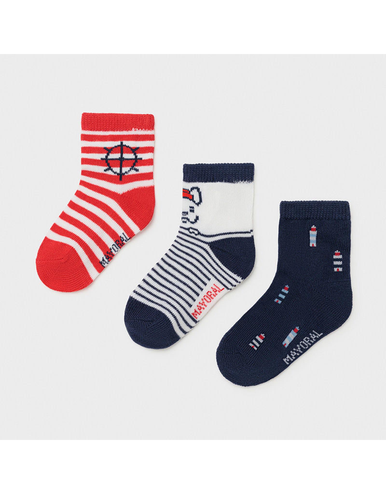 Mayoral 3 socks set - Red
