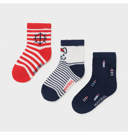Mayoral 3 socks set - Red (6M-24M)