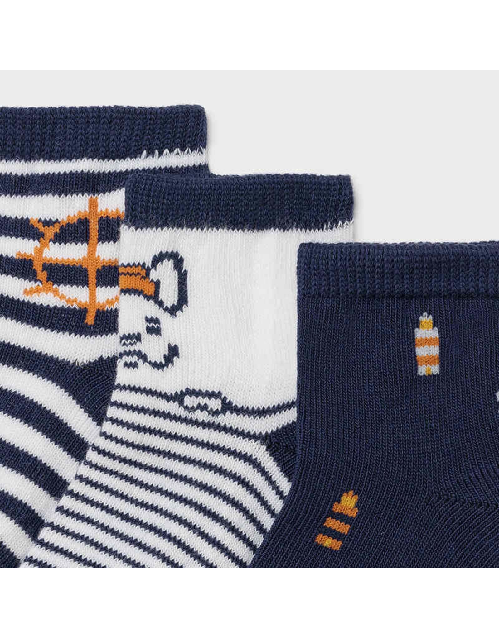 Mayoral 3 socks set - Nautical