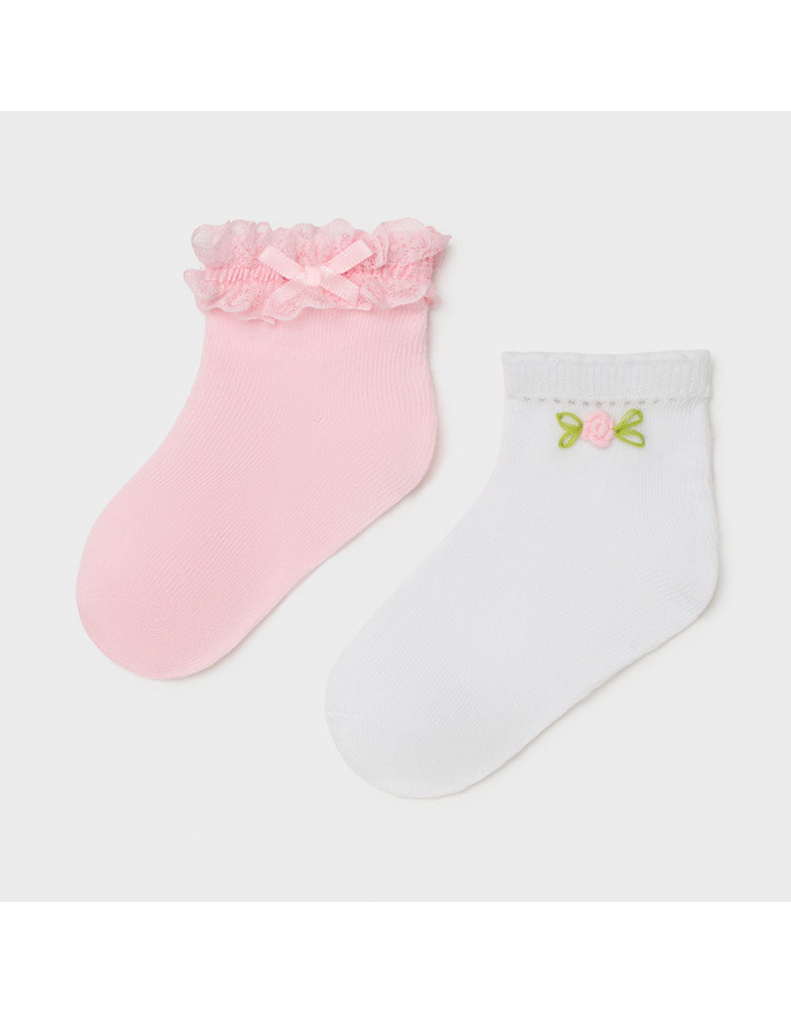 Mayoral 2 Socks Set - Rose