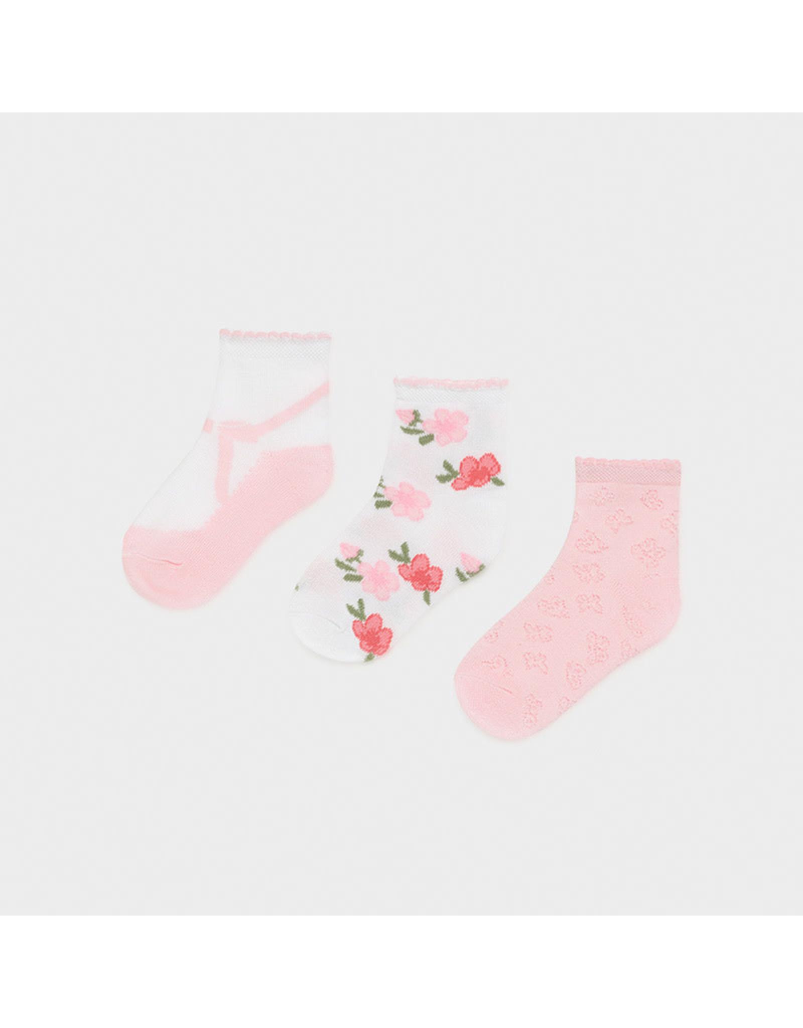 Mayoral Set 3 Socks - Rose
