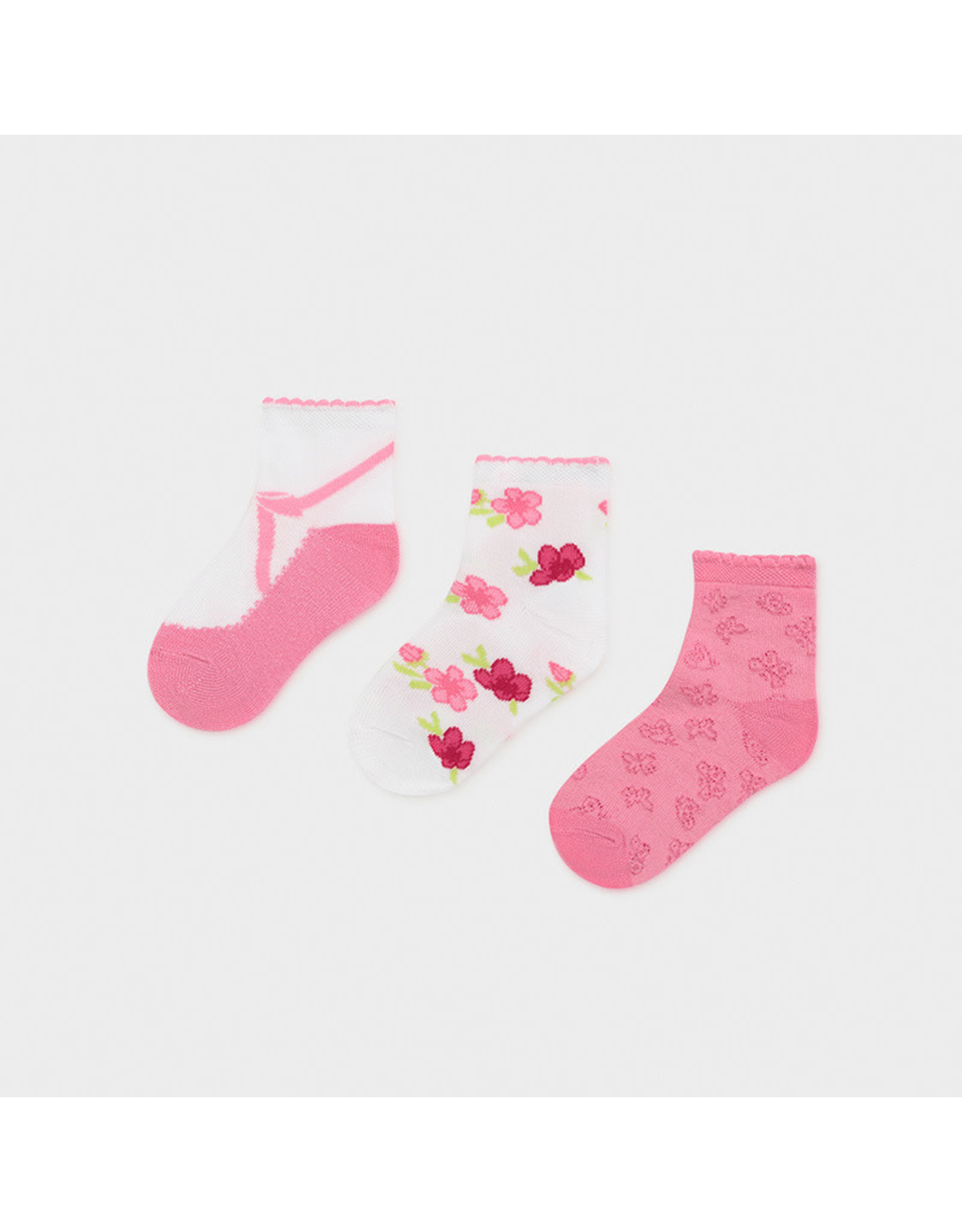 Mayoral Set 3 Socks - Camiellia