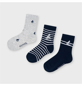 Mayoral Socks 3 Pairs - Navy
