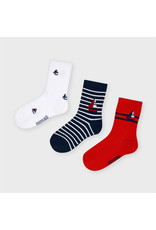 Mayoral Socks 3 Pairs - Red