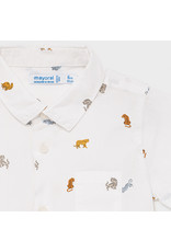 Mayoral Short Sleeve Animal Button Up