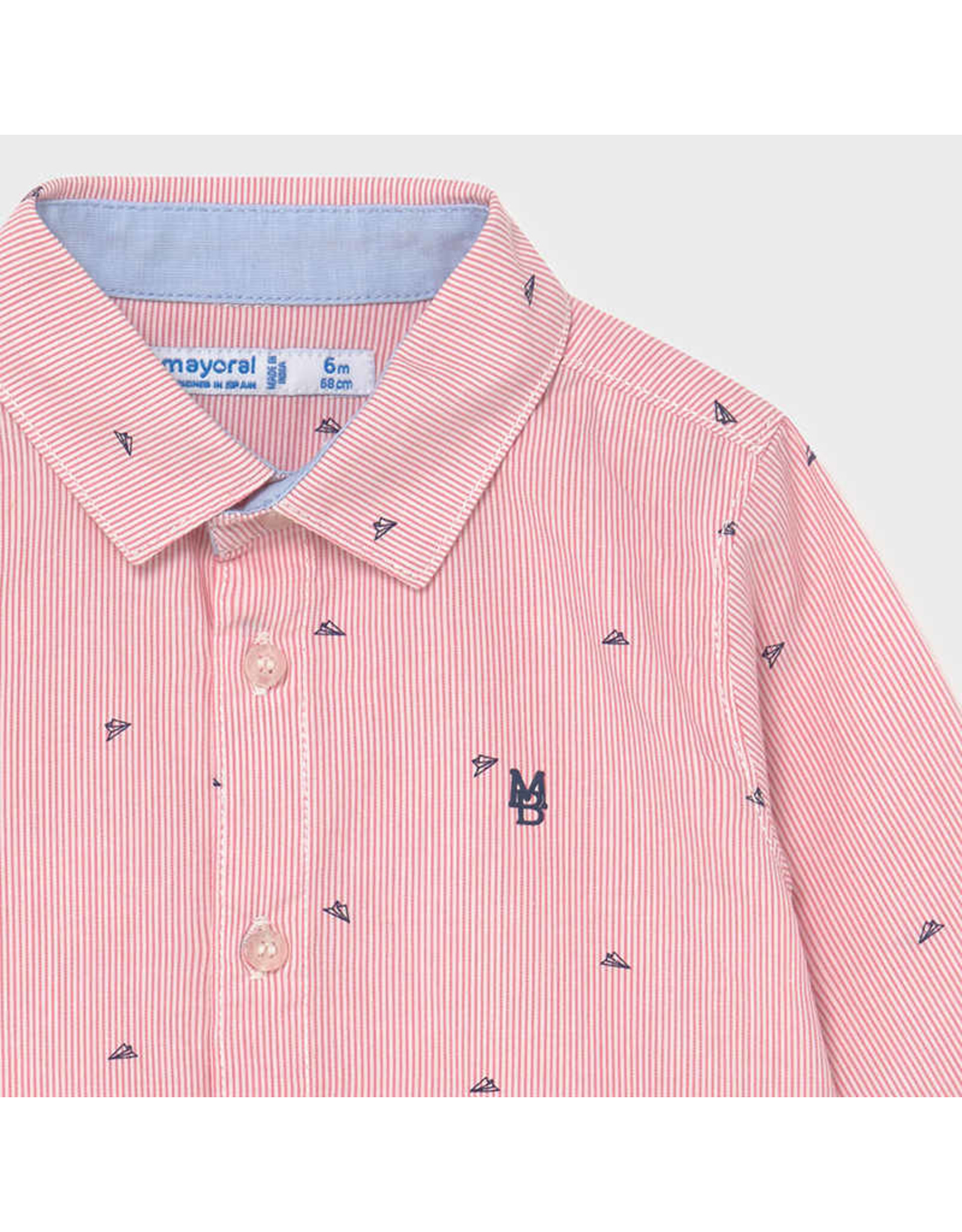 Mayoral Long Sleeve Button Up Shirt
