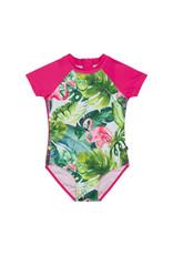 Deux Par Deux One Piece Swimsuit - Flamingo