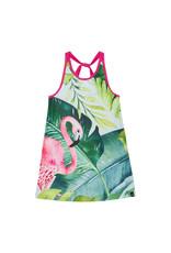 Deux Par Deux Beach Dress - Flamingo