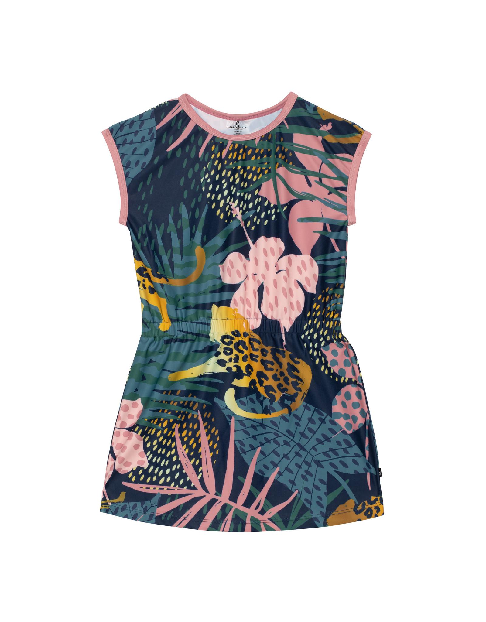 Deux Par Deux Beach Dress - Cheetah