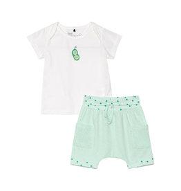 Deux Par Deux Top and Short Set Organic Cotton - White
