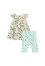 Deux Par Deux Dress and Capri Set Organic Cotton - Multicolor