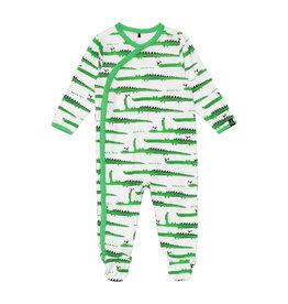 Deux Par Deux Printed Pajamas - Crocodiles