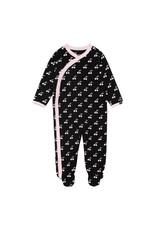 Deux Par Deux Printed Pajamas - Cherry