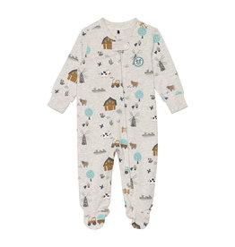 Deux Par Deux Printed Pajamas - Farm
