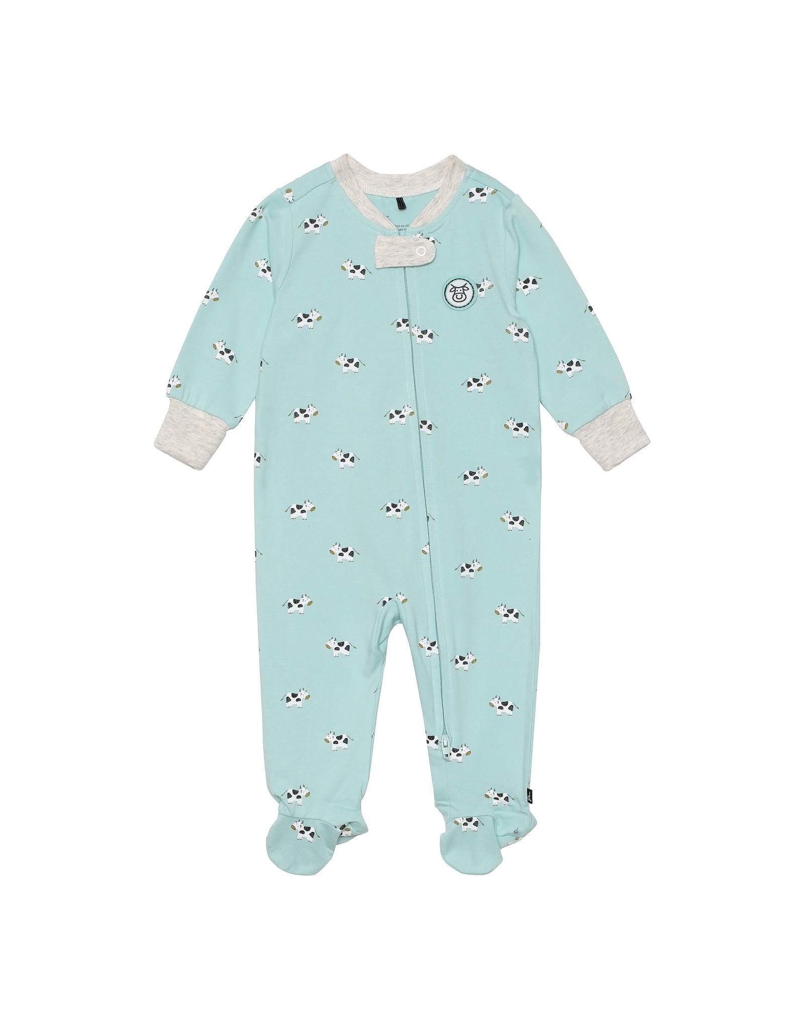 Deux Par Deux Printed Pajamas - Cow
